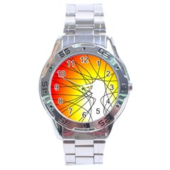 Spirituality Man Origin Lines Stainless Steel Analogue Watch by Amaryn4rt