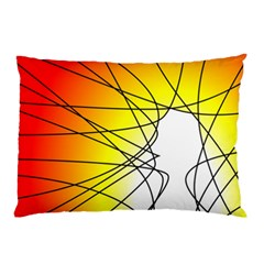 Spirituality Man Origin Lines Pillow Case (two Sides) by Amaryn4rt