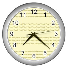 Background Pattern Lines Wall Clocks (silver)  by Amaryn4rt