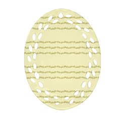 Background Pattern Lines Oval Filigree Ornament (two Sides) by Amaryn4rt