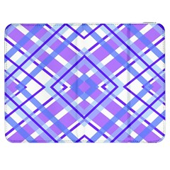 Geometric Plaid Pale Purple Blue Samsung Galaxy Tab 7  P1000 Flip Case by Amaryn4rt