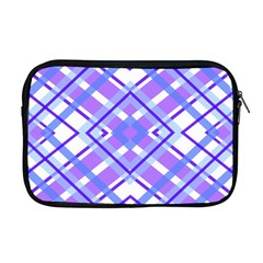 Geometric Plaid Pale Purple Blue Apple Macbook Pro 17  Zipper Case