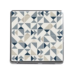 Geometric Triangle Modern Mosaic Memory Card Reader (square) by Amaryn4rt
