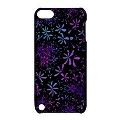 Retro Flower Pattern Design Batik Apple Ipod Touch 5 Hardshell Case With Stand by Amaryn4rt