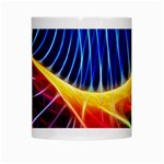Color Colorful Wave Abstract White Mugs Center