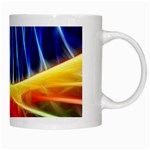 Color Colorful Wave Abstract White Mugs Right