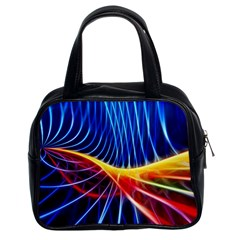 Color Colorful Wave Abstract Classic Handbags (2 Sides)