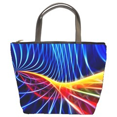 Color Colorful Wave Abstract Bucket Bags by Amaryn4rt