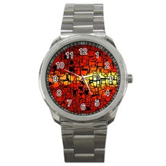 Board Conductors Circuits Sport Metal Watch by Amaryn4rt