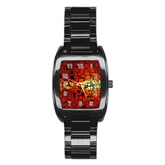 Board Conductors Circuits Stainless Steel Barrel Watch by Amaryn4rt