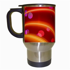 Bokeh Lines Wave Points Swing Travel Mugs (white)