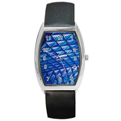 Lines Geometry Architecture Texture Barrel Style Metal Watch by Amaryn4rt