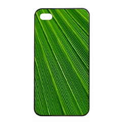 Green Lines Macro Pattern Apple Iphone 4/4s Seamless Case (black) by Amaryn4rt