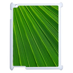 Green Lines Macro Pattern Apple Ipad 2 Case (white) by Amaryn4rt