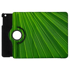 Green Lines Macro Pattern Apple Ipad Mini Flip 360 Case by Amaryn4rt