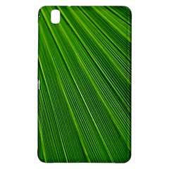 Green Lines Macro Pattern Samsung Galaxy Tab Pro 8 4 Hardshell Case by Amaryn4rt