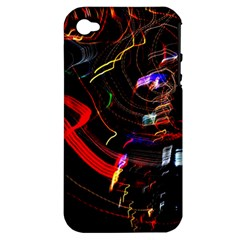 Night View Night Chaos Line City Apple Iphone 4/4s Hardshell Case (pc+silicone)