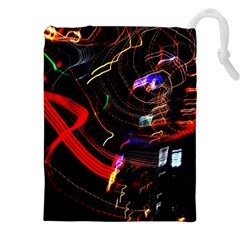 Night View Night Chaos Line City Drawstring Pouches (xxl) by Amaryn4rt