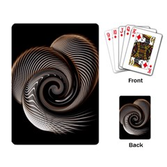 Abstract Background Curves Playing Card