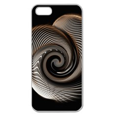 Abstract Background Curves Apple Seamless Iphone 5 Case (clear)