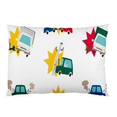 Accident Crash Car Cat Animals Pillow Case (two Sides)