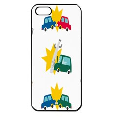 Accident Crash Car Cat Animals Apple Iphone 5 Seamless Case (black)
