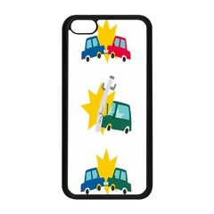 Accident Crash Car Cat Animals Apple Iphone 5c Seamless Case (black) by Alisyart