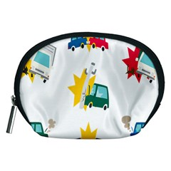 Accident Crash Car Cat Animals Accessory Pouches (medium)