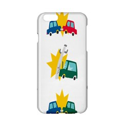 Accident Crash Car Cat Animals Apple Iphone 6/6s Hardshell Case by Alisyart