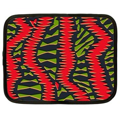 African Fabric Red Green Netbook Case (xxl)  by Alisyart