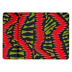 African Fabric Red Green Samsung Galaxy Tab 10 1  P7500 Flip Case