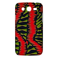 African Fabric Red Green Samsung Galaxy Mega 5 8 I9152 Hardshell Case  by Alisyart