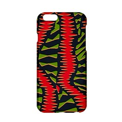 African Fabric Red Green Apple Iphone 6/6s Hardshell Case