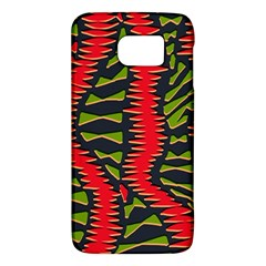 African Fabric Red Green Galaxy S6