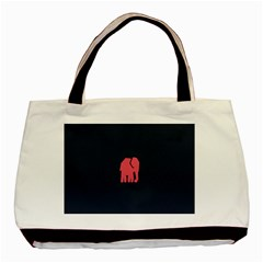 Animals Elephant Pink Blue Basic Tote Bag (two Sides)
