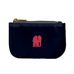 Animals Elephant Pink Blue Mini Coin Purses