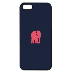 Animals Elephant Pink Blue Apple Iphone 5 Seamless Case (black)