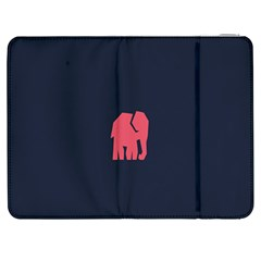 Animals Elephant Pink Blue Samsung Galaxy Tab 7  P1000 Flip Case