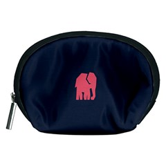 Animals Elephant Pink Blue Accessory Pouches (medium)