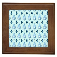 Ace Hibiscus Blue Diamond Plaid Triangle Framed Tiles