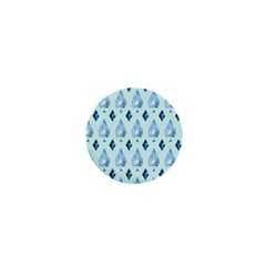 Ace Hibiscus Blue Diamond Plaid Triangle 1  Mini Buttons