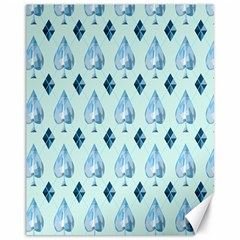 Ace Hibiscus Blue Diamond Plaid Triangle Canvas 11  X 14   by Alisyart