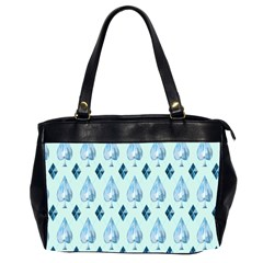 Ace Hibiscus Blue Diamond Plaid Triangle Office Handbags (2 Sides)