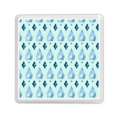 Ace Hibiscus Blue Diamond Plaid Triangle Memory Card Reader (square)