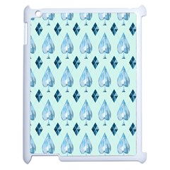 Ace Hibiscus Blue Diamond Plaid Triangle Apple Ipad 2 Case (white) by Alisyart
