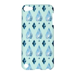 Ace Hibiscus Blue Diamond Plaid Triangle Apple Ipod Touch 5 Hardshell Case by Alisyart