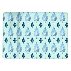 Ace Hibiscus Blue Diamond Plaid Triangle Samsung Galaxy Tab 10 1  P7500 Flip Case