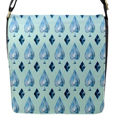 Ace Hibiscus Blue Diamond Plaid Triangle Flap Messenger Bag (s) by Alisyart