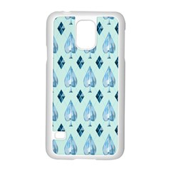 Ace Hibiscus Blue Diamond Plaid Triangle Samsung Galaxy S5 Case (white)