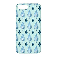 Ace Hibiscus Blue Diamond Plaid Triangle Apple Iphone 7 Plus Hardshell Case